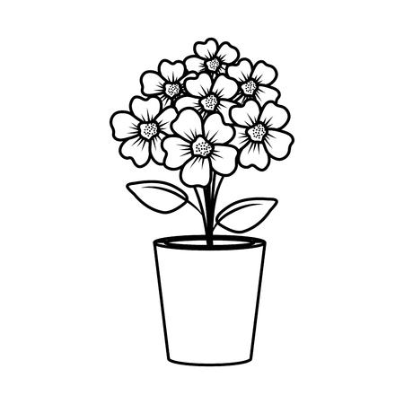 floral decoration in clay pot vector illustartion design Stock Vector - 124667838