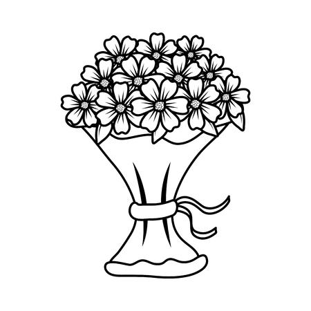 beutiful flowers bouquet icon vector illustartion design Stock Vector - 124667840