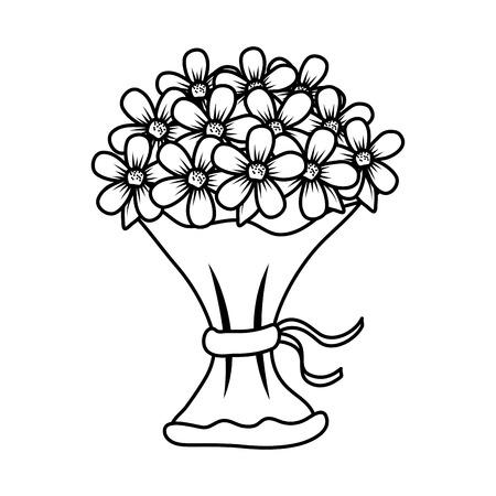beutiful flowers bouquet icon vector illustartion design Stock Vector - 124667841