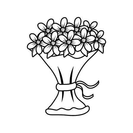 beutiful flowers bouquet icon vector illustartion design Stock Vector - 124667842