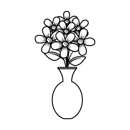 floral decoration in classic vase vector illustartion design Stock Vector - 124667847