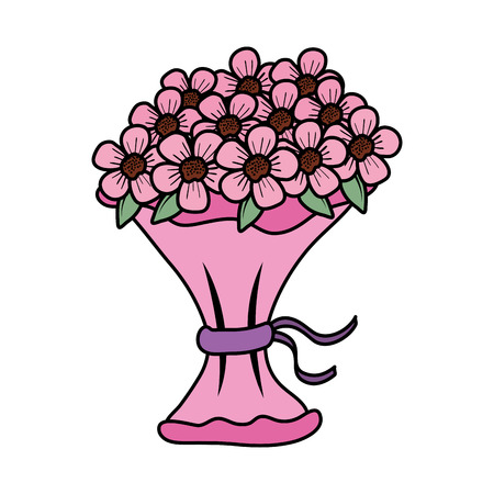 beutiful flowers bouquet icon vector illustartion design Stock Vector - 124667881