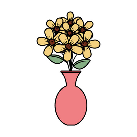 floral decoration in classic vase vector illustartion design Stock Vector - 124667888