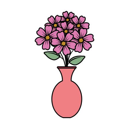 floral decoration in classic vase vector illustartion design