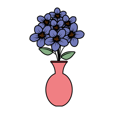 floral decoration in classic vase vector illustartion design Stock Vector - 124667907