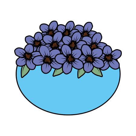 floral decoration in ceramic pot vector illustartion design Stock Vector - 124667908