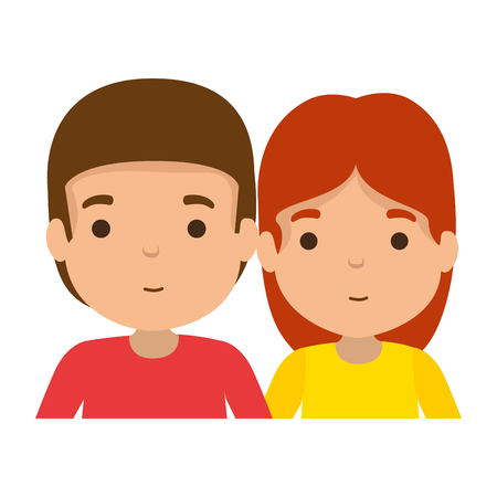 young couple avatars characters vector illustration design Ilustração