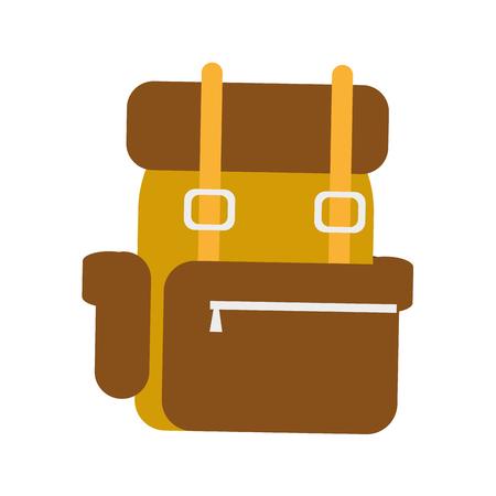 travel backpack on white background vector illustration