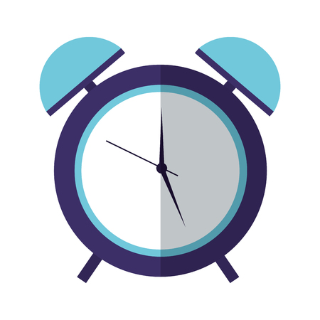 alarm clock time on white background vector illustration