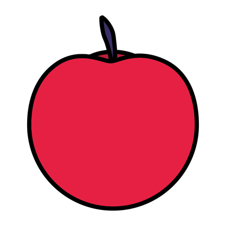 fresh apple fruit on white background vector illustration