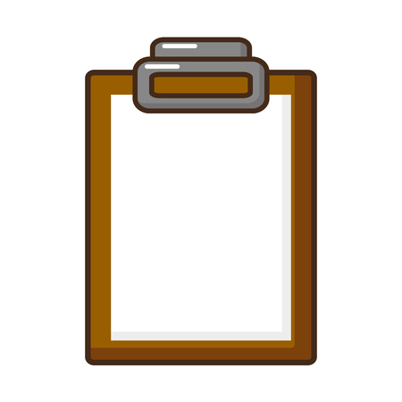 clipboard medical report on white background vector illustration Standard-Bild - 118548427