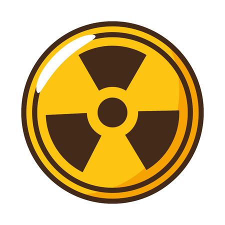 Strahlungssymbol Wissenschaft auf weißer Hintergrundvektorillustration