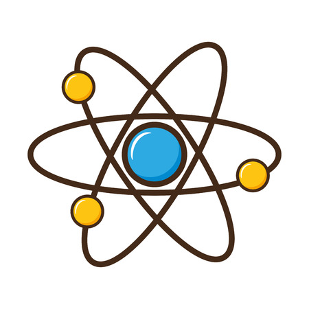 atom molecule science on white background vector illustration