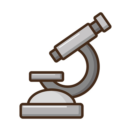 laboratory tool microscope on white background vector illustration