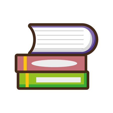 books stacked education on white background vector illustration Reklamní fotografie - 124618914