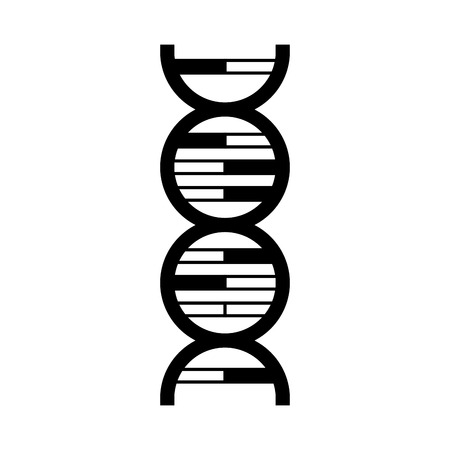 science genetic dna on white background vector illustration