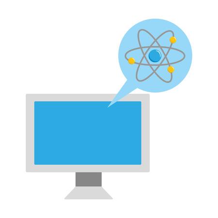 computer atom molecule laboratory science vector illustration Banque d'images - 124618939