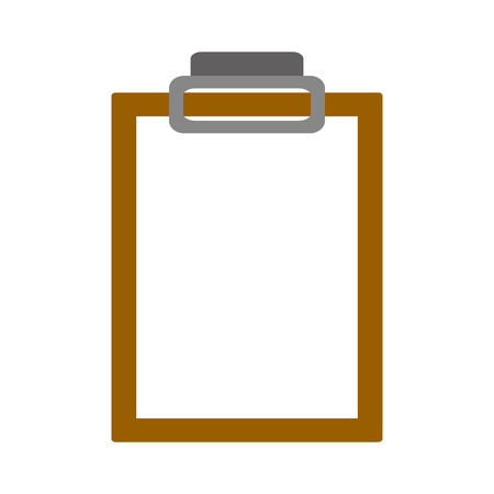 clipboard medical report on white background vector illustration