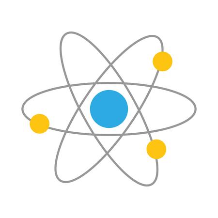 atom molecule science on white background vector illustration