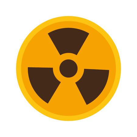 scienza simbolo di radiazione su sfondo bianco illustrazione vettoriale