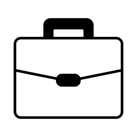 Icono de maleta de negocios en la ilustración de vector de fondo blanco Ilustración de vector