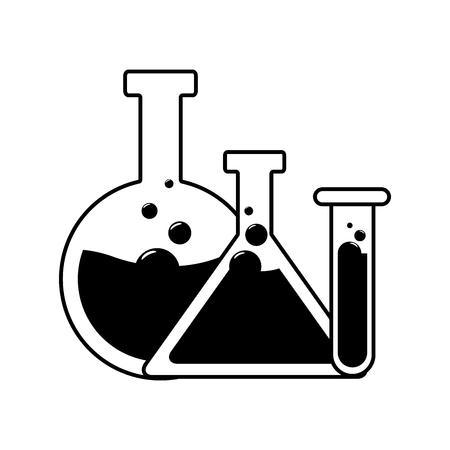 test tubes glassware science laboratory  vector illustration