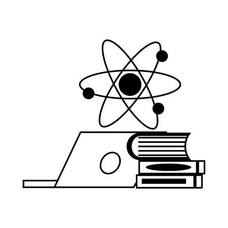 laptop books molecule laboratory science  vector illustration Banque d'images - 118548367