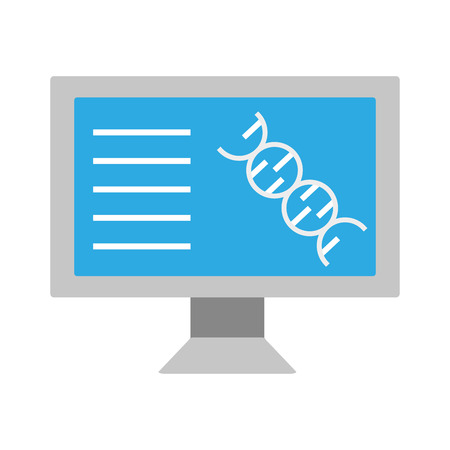 computer molecule dna laboratory science  vector illustration