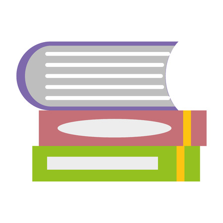 books stacked education on white background  vector illustration