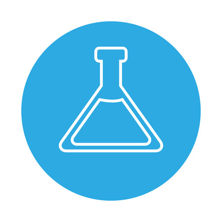 test tube laboratory on blue background  vector illustration