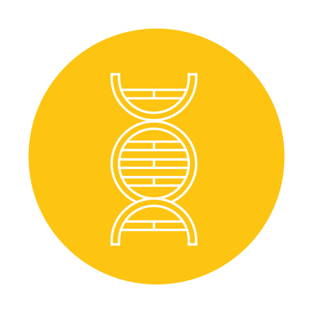 science genetic dna on yellow background  vector illustration Illustration