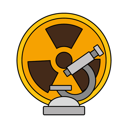 microscope radiation science on white background vector illustration