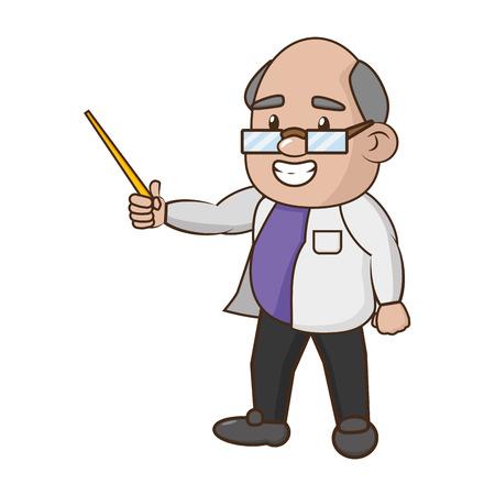 scientific professor teaches science laboratory vector illustration Imagens - 118548299