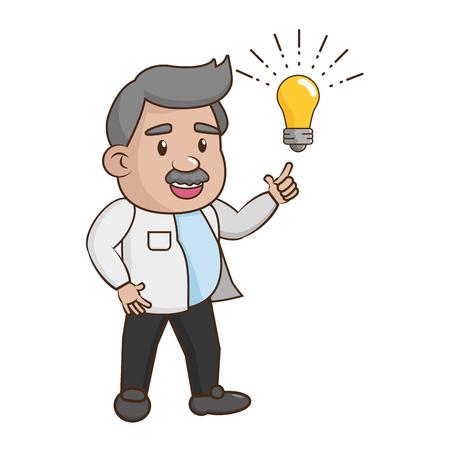 scientific professor innovation laboratory science vector illustration Çizim