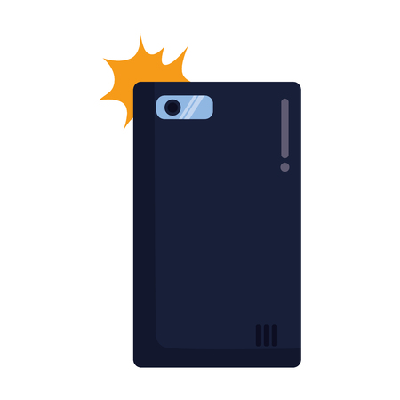smartphone taking selfie on white backrgound vector illustration