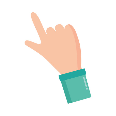 index finger hand on white background vector illustration