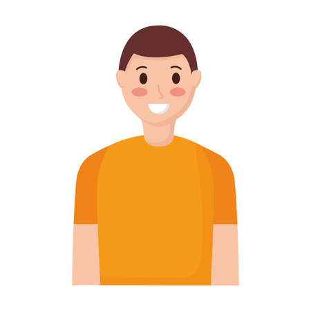 smiling man portrait on white background vector illustration Illustration