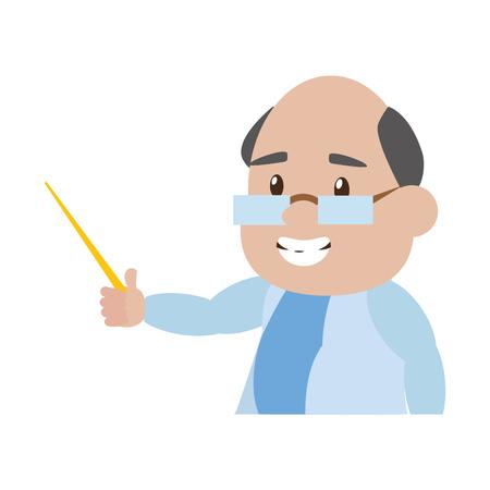 scientific professor teaches science laboratory vector illustration Imagens - 118538472