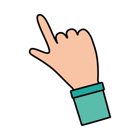 index finger hand on white background vector illustration Stok Fotoğraf - 124619069