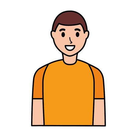smiling man portrait on white background vector illustration Stock Vector - 124619088