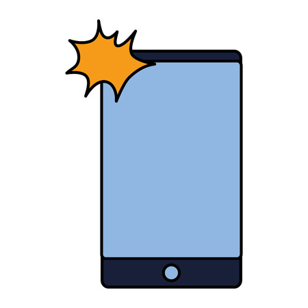 cellphone device gadget on white background vector illustration