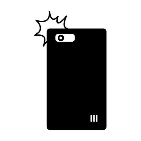 smartphone taking selfie on white backrgound vector illustration monochrome Illustration