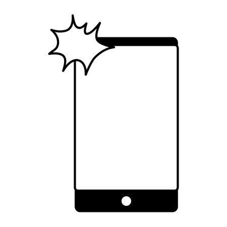 smartphone taking selfie on white backrgound vector illustration monochrome Illustration