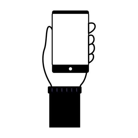 index finger hand on white background vector illustration monochrome