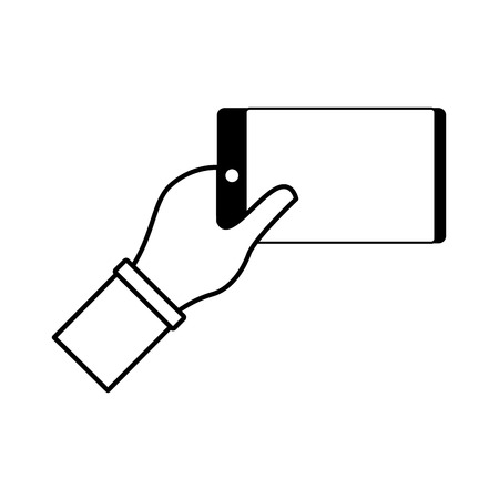 index finger hand on white background vector illustration monochrome Foto de archivo - 124624441