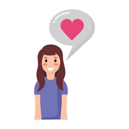woman love speech bubble chat vector illustration Standard-Bild - 118548135