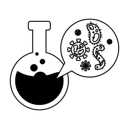 test tube virus cells science vector illustration