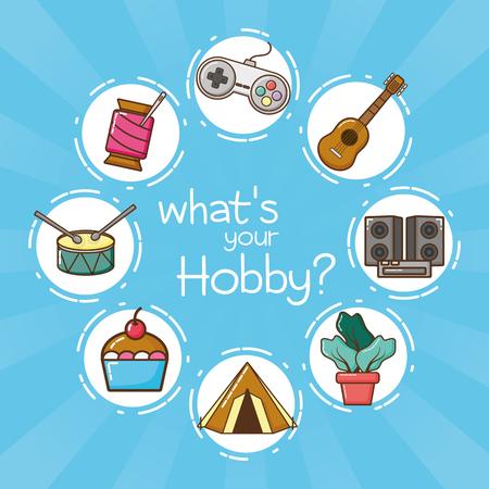 Was ist dein Hobby-Vektor-Illustrationsdesign? Vektorgrafik