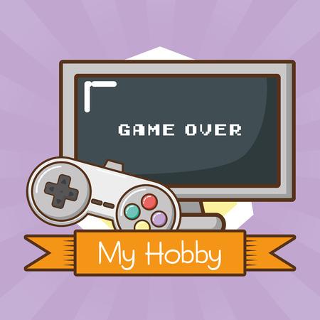 mijn hobby video game technologie vector illustratie ontwerp