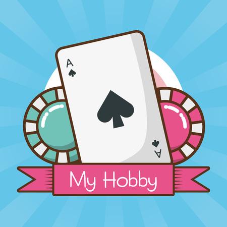 my hobby bet in the casino vector illustration design 일러스트